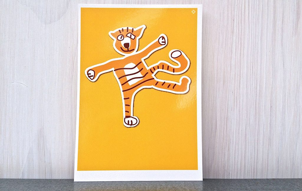 Dieter, der Tiger und wie es zu dieser äußerst gefährlichen Postkarte kam