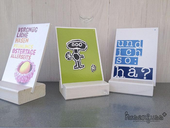 Meine neuen, wunderschönen Displays – <br>Heimat für alle Postkarten