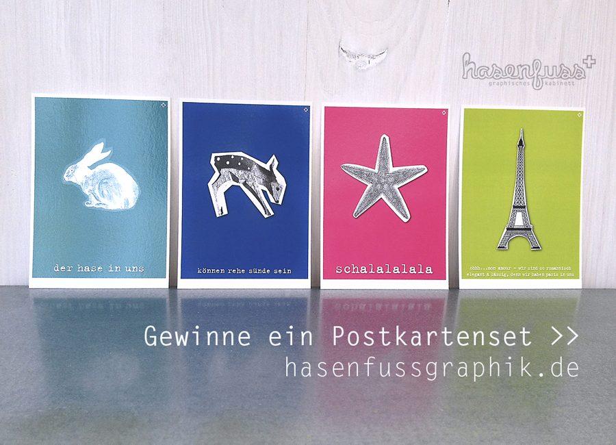 Mein erstes kleines Give-away – <br>ich verschenke ein romantisches Postkartenset