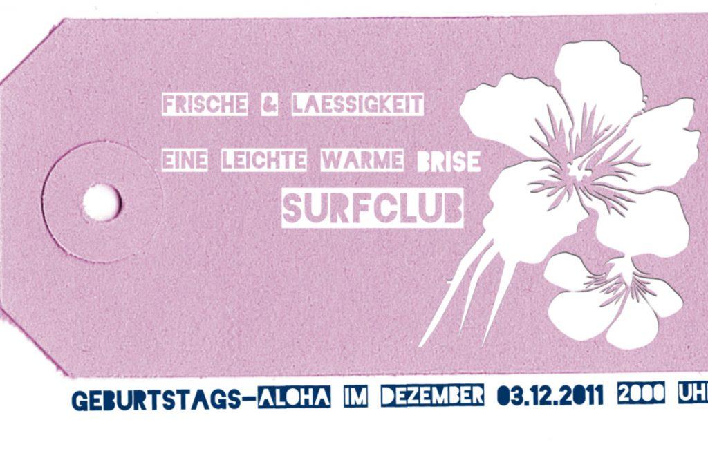 ERINNERMICH: Die Surfclub-Einladung – aus meiner neuen Reihe 'Grafik für den Hausgebrauch'