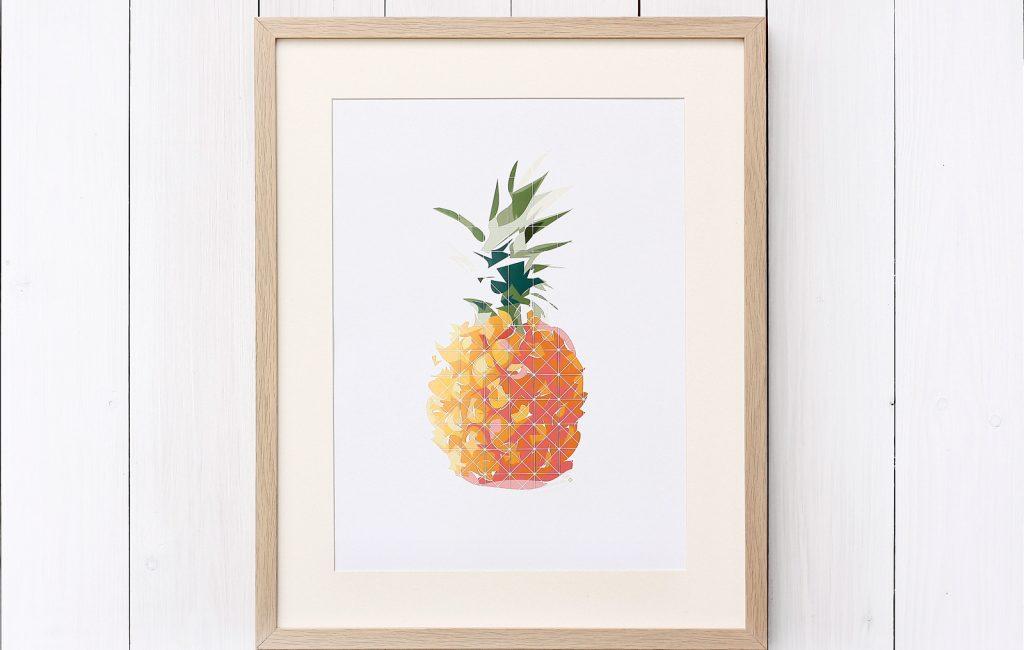 Aber sowas von neu – mein Ananas-Poster