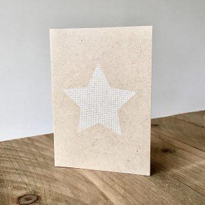 Weihnachtskarten im Set mit weißem Stern