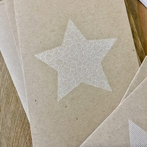Weihnachtskarte mit Stern