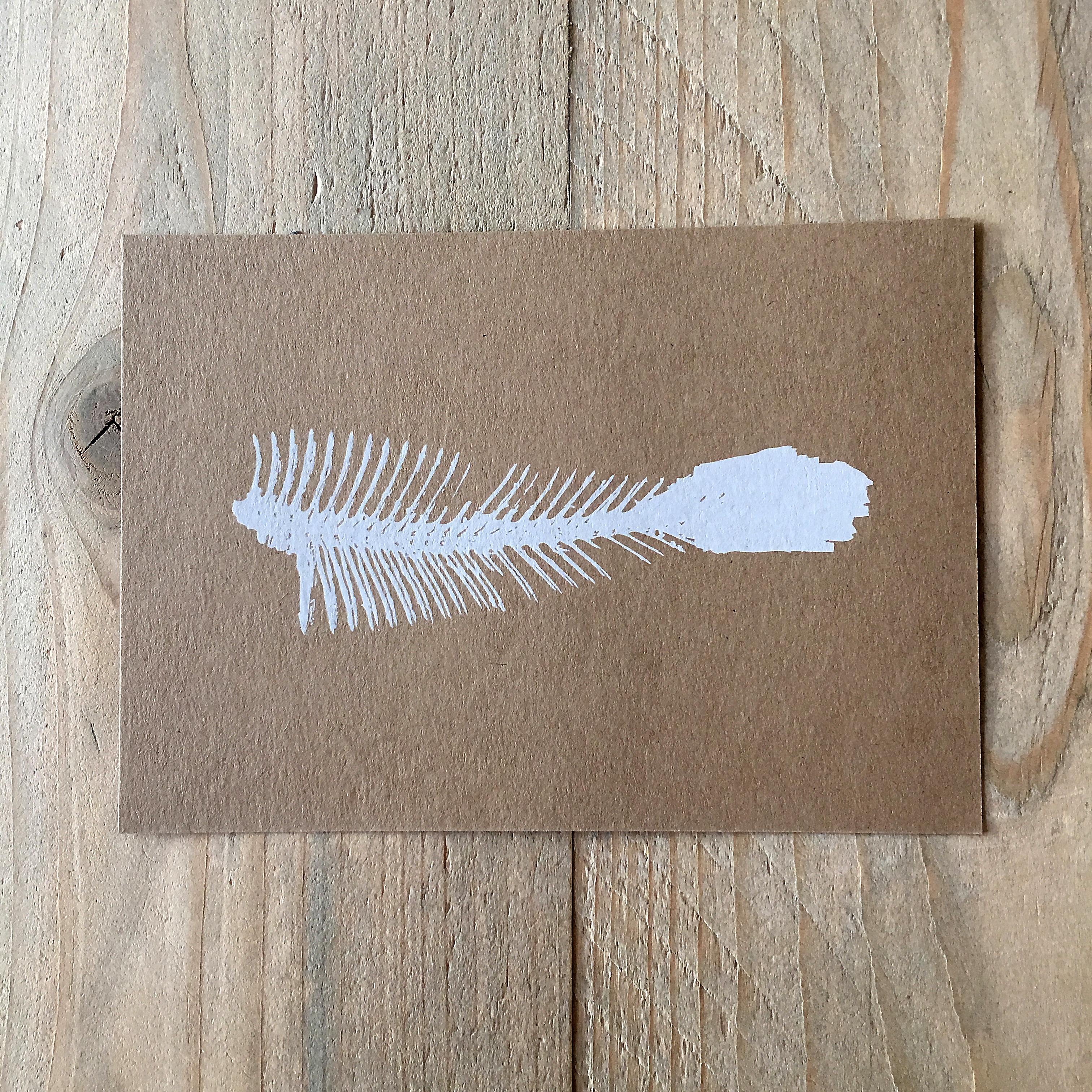 Karte mit Fisch Naturkarton
